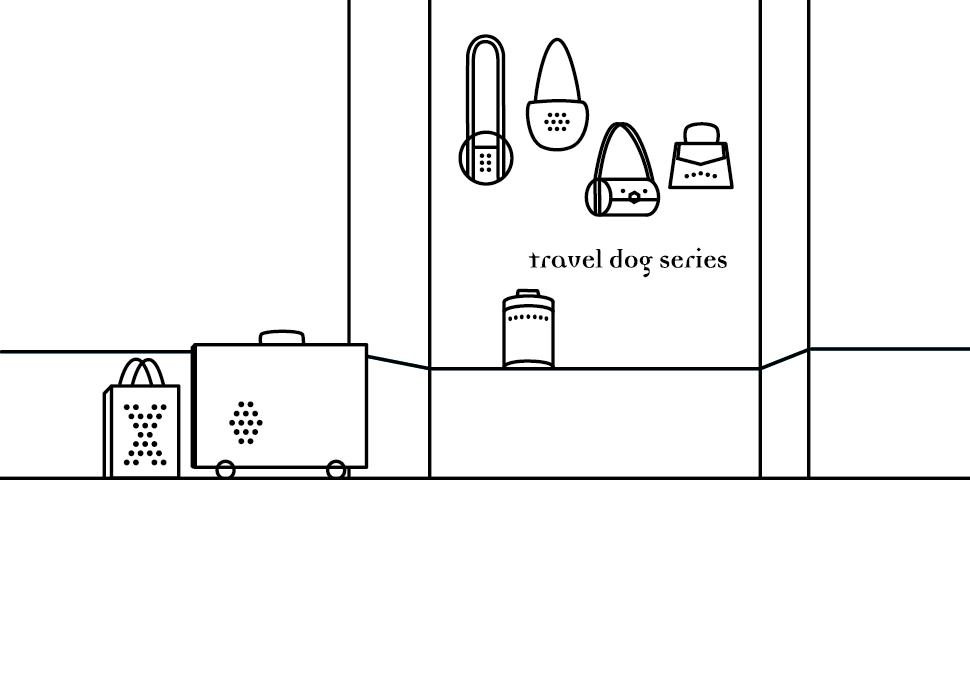 Zeichnung: Reisehund | Bag