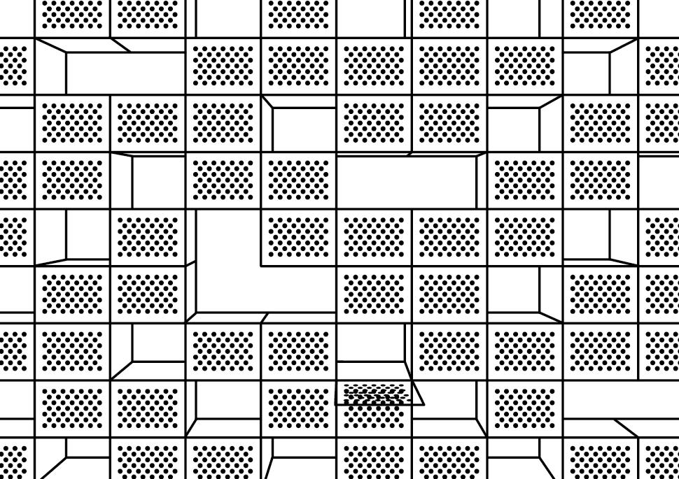 Zeichnung: Reisehund | Box Pattern