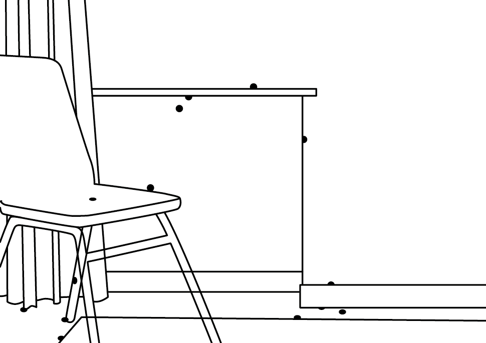 Zeichnung: Reisehund | Hotel Room