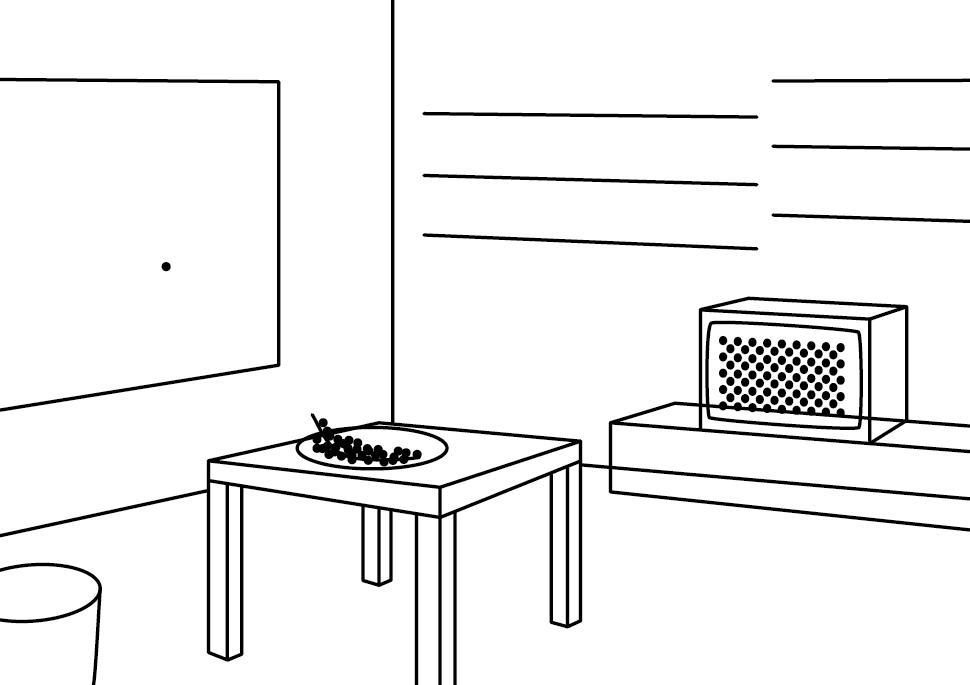 Zeichnung: Reisehund | Living Room
