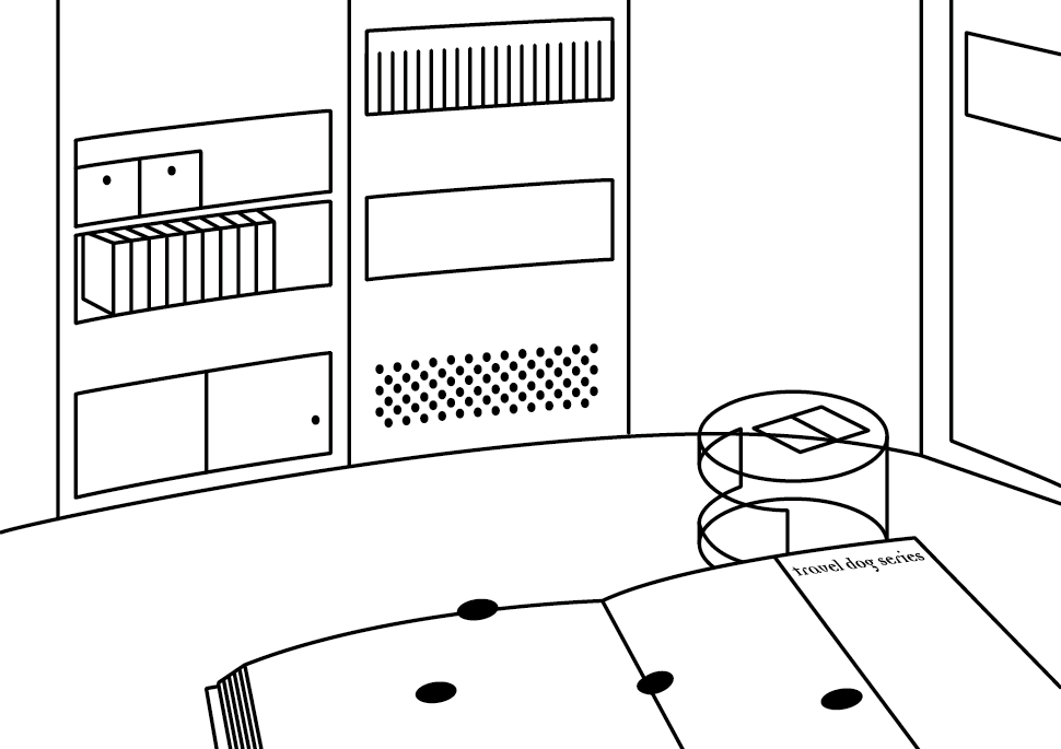 Zeichnung: Reisehund | Reading Room