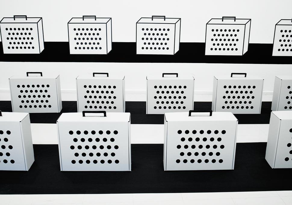 Raumzeichnung: Stadtgalerie Saarbrücken