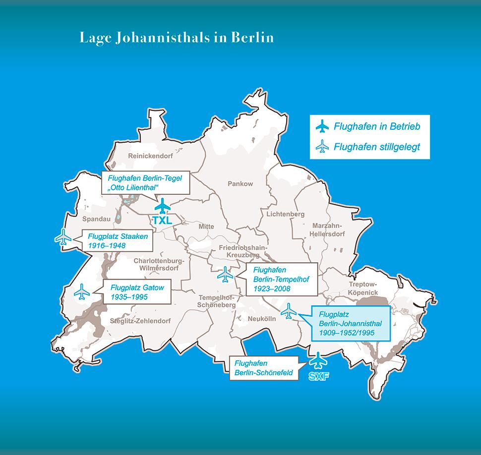 Faltblatt: Flugplatz Johannisthal