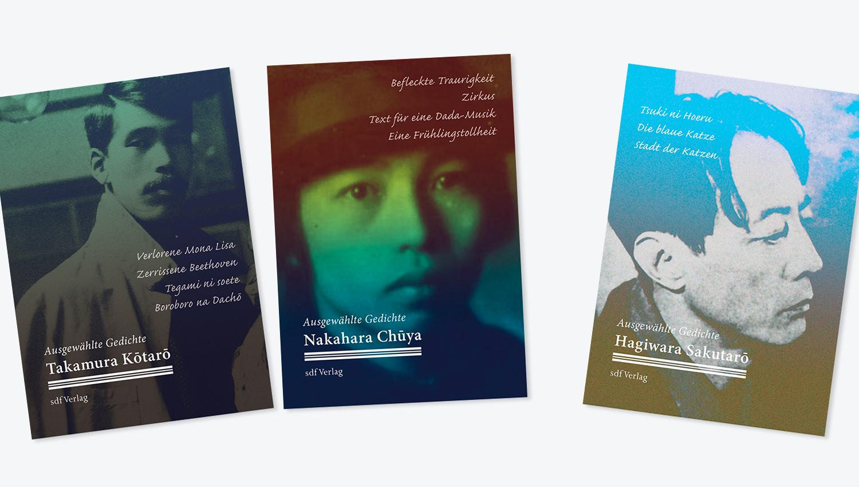 Bookcover-Gestaltung | Gedichtbände japanischer Dichter