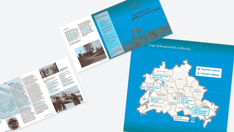 Falzflyer-Gestaltung: Flugplatz Johannisthal