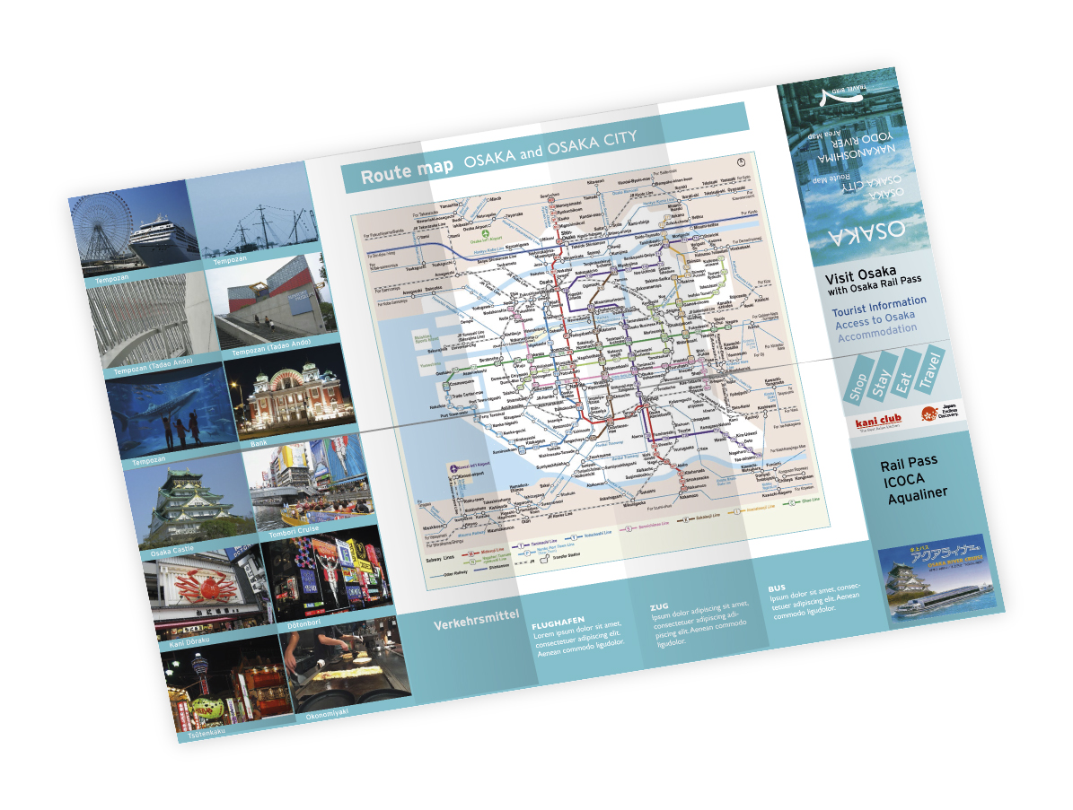 Gestaltung Falzflyer Stadtplan