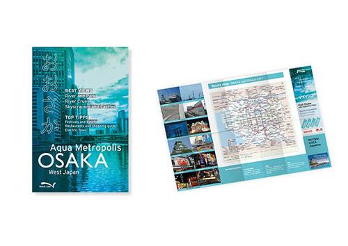 Buchgestaltung Reiseführer Umschlag Faltblat