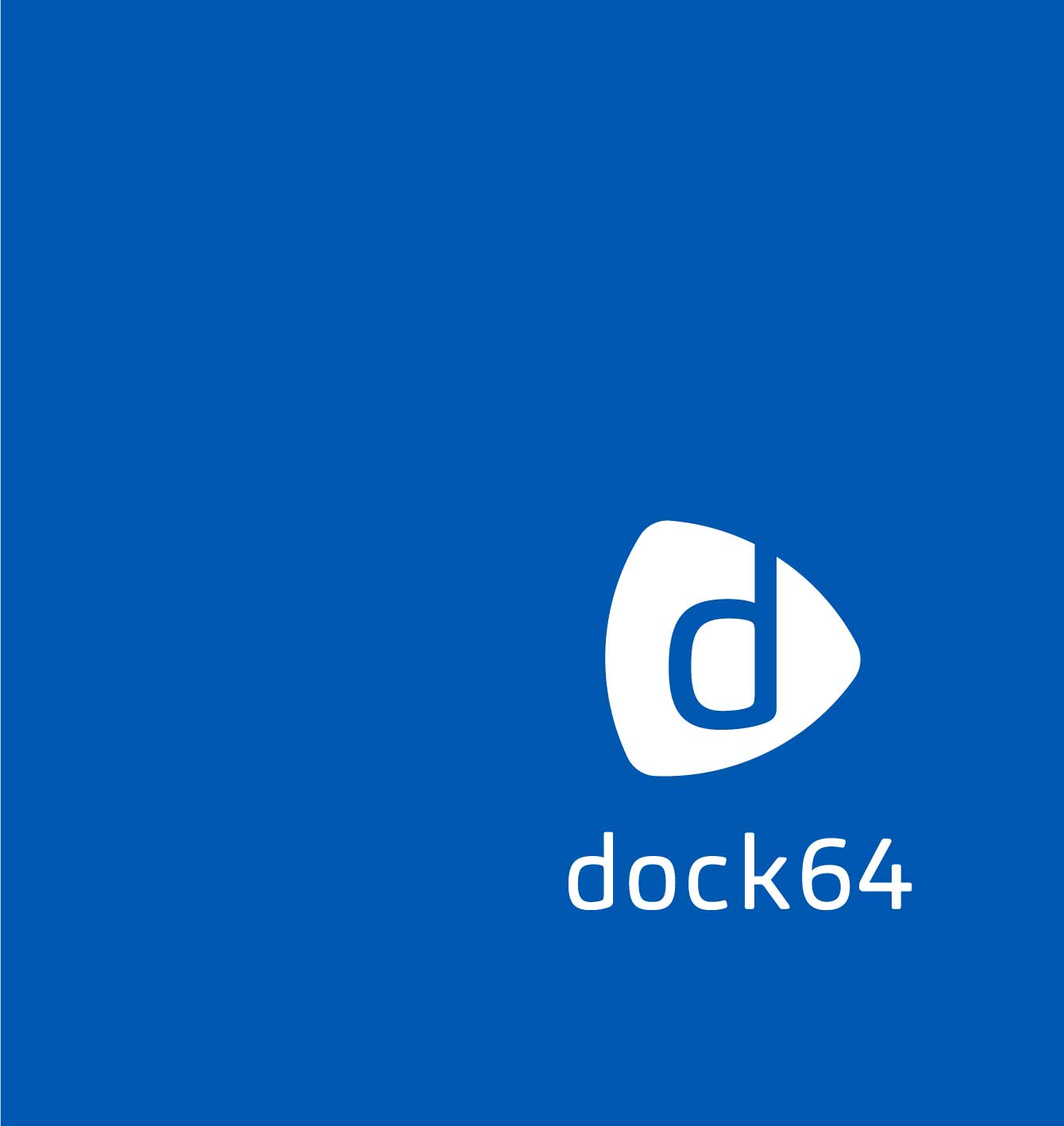 Logodesign dock64 blau