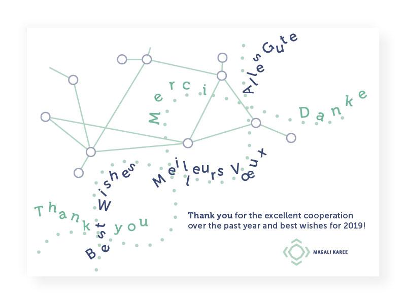 Grußkartegestaltung – Internationaler Dankeschön-Tag, Magali Karee Marketing und SEO-Übersetzungen