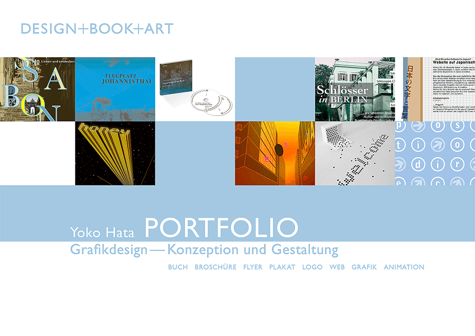 Portfolio Grafikdesign – Buchgestaltung, Printdesign, Webdesign, Logodesign, Animation, Raumgestaltung