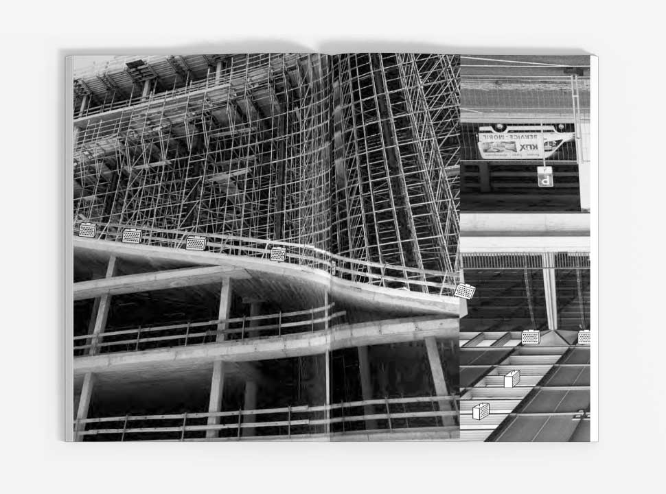 """Künstlerbuch """"Reisehund in Berlin"""", GUP-py, Doppelseite 18-19"""
