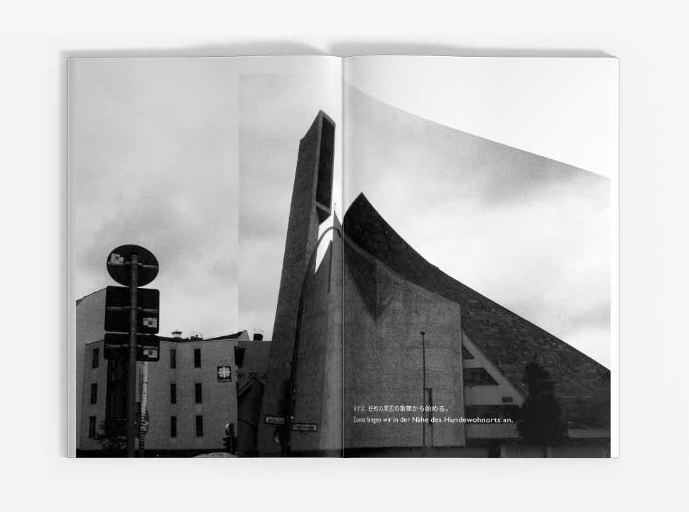 """Künstlerbuch """"Reisehund in Berlin"""", GUP-py, Doppelseite 4-5"""