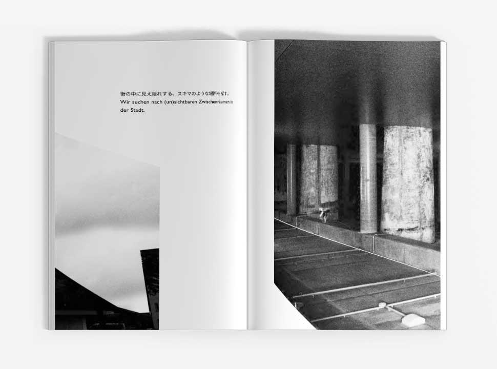 """Künstlerbuch """"Reisehund in Berlin"""", GUP-py, Doppelseite 6-7"""