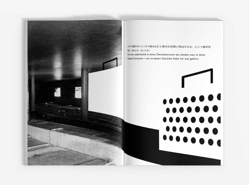 """Künstlerbuch """"Reisehund in Berlin"""", GUP-py, Doppelseite 8-9"""