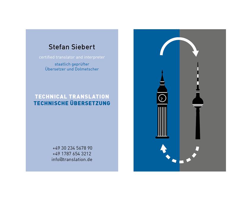 Visitenkartegestaltung S. Siebert